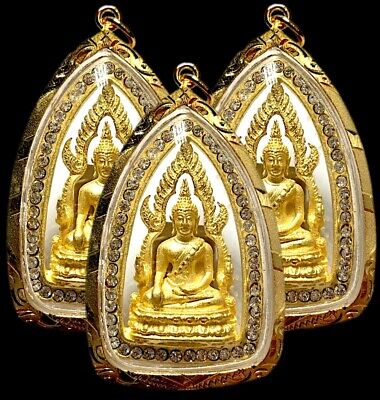 THAI AMULET STYLE BUDDHA STAINLESS STEEL CASES SET 4 HOLY GRADE A STRONG NO.6