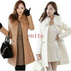 Women-039-s-Autumn-Double-Breasted-Slim-Fit-Coat-Korean-Trench-Coat-Casual-New-sgh01
