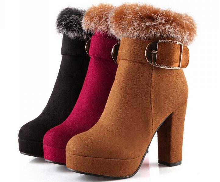 Stivaletti stivali scarpe donna tacco 12.8 cm simil 9084 pelle pelo comodi caldi 9084 simil 0a962e