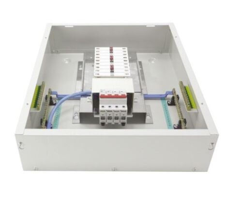 Europa Components 18 Way 125A Switch 3 Phase Distribution Board TPN06
