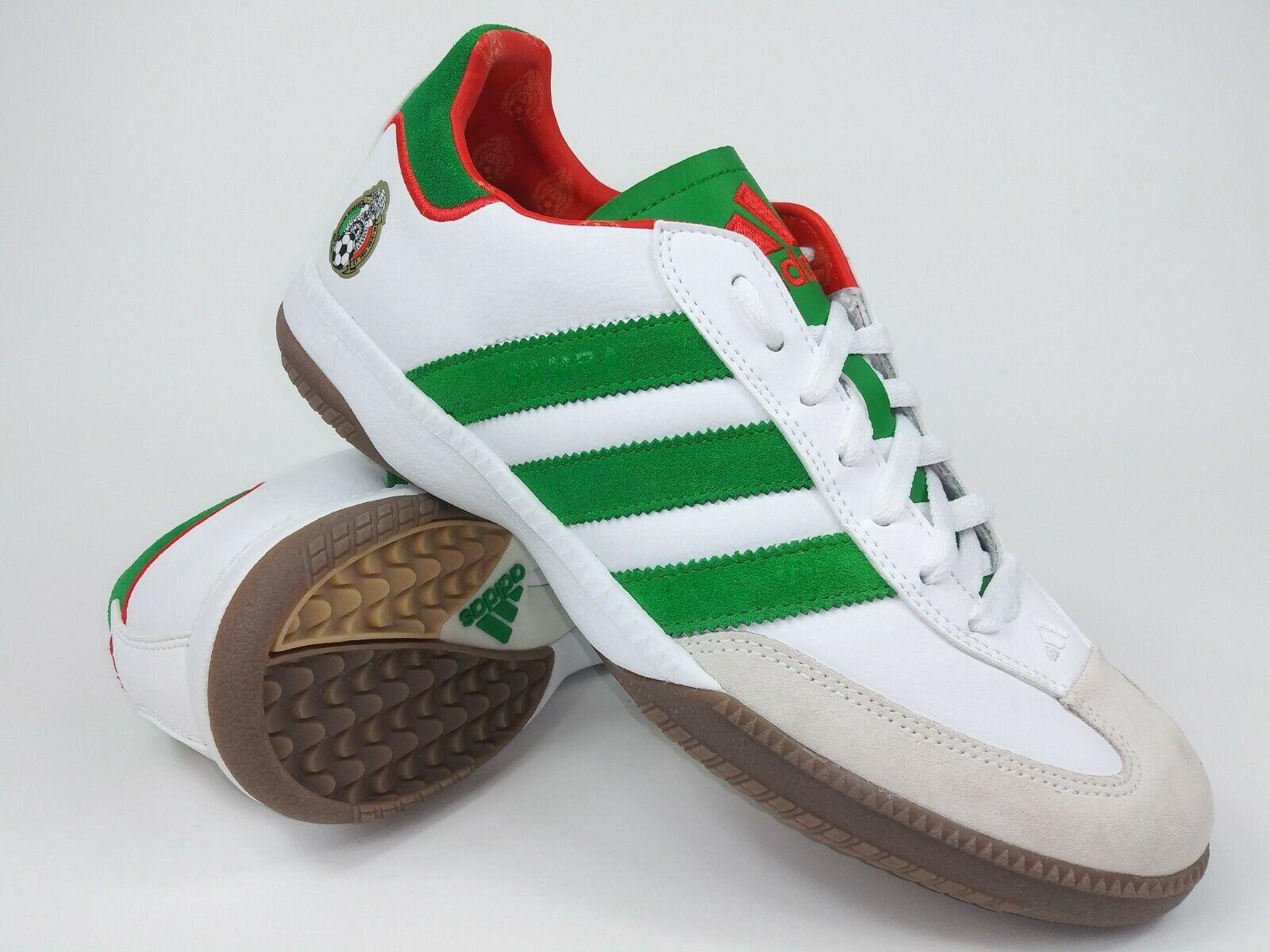 Adidas Mens Rare SAMBAMILLENIUM FEDs 915100 White Green Indoor Soccer shoes