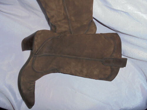 Leather 37 Calf Vgc On Uk Lelo Boot Pull Women 4 Size Eu Suede Gyd Brown By Mid Cn1qBwX