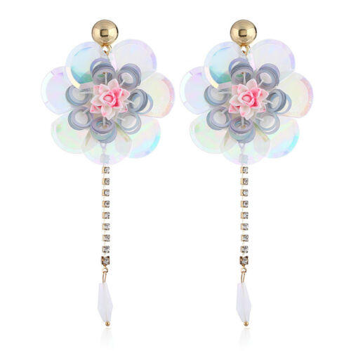 Rose Fleur Tassel Pendants d/'oreilles boho bohème Frange Tassel Boucles d/'oreilles pour femmes