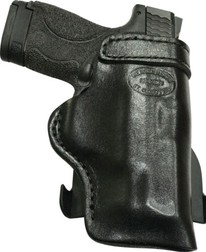 Leather Kydex Paddle Gun Holster LH RH For Kahr PM 9 40 45 w// CT Laserguard