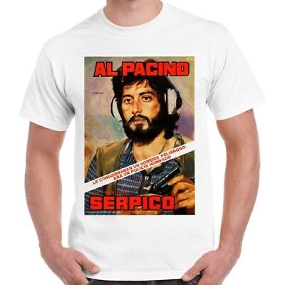 Serpico T-Shirt Al Pacino Various Colours /& Sizes Classic Film