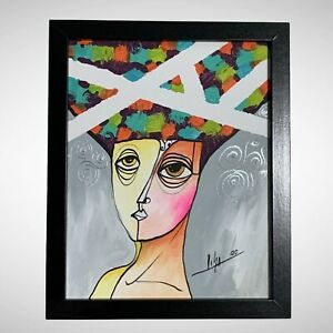PAINTING-ORIGINAL-ACRYLIC-ON-CANVAS-FRAME-INCLUDED-CUBAN-ART-8-X10-By-LISA