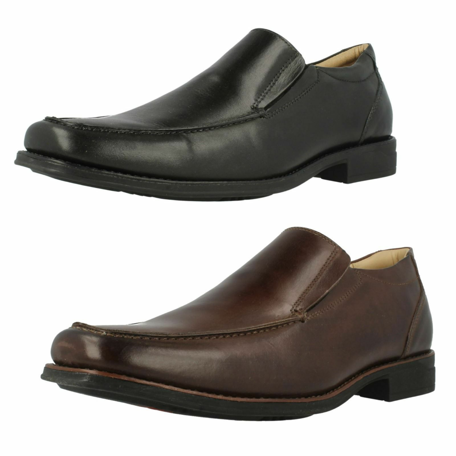 Mens Anatomic & Co Tapera Black Or Coffee Leather Slip On Shoes