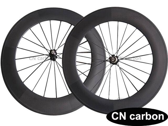 U Shape 88mm Tubular carbon road bicycle wheelset  23mm,25mm rim width