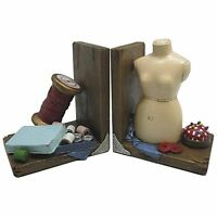 Sewing & Mannequin Shelf Tidy Heavy Resin Bookends By Fiesta Studios Brand