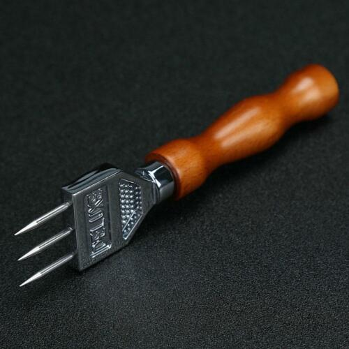 Ice Pick Sturdy Stainless Steel Three-pronged Ice Chipper with Solid Wood Handle