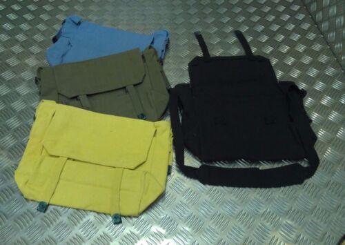 Canvas Shoulder Bag Festival Asst Colours Military Style 37 Pattern Haversack