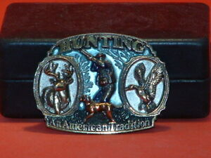 Pre-Owned-Hunting-An-American-Tradition-Belt-Buckle