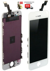 TOUCH-SCREEN-LCD-DISPLAY-RETINA-FRAME-PER-APPLE-IPHONE-5-VETRO-SCHERMO-BIANC