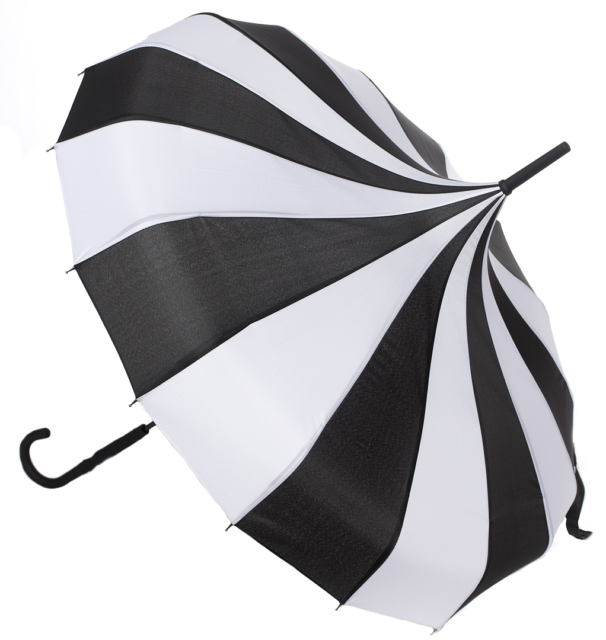 Sourpuss Clic Black And White Striped Paa Umbrella Gothic Punk Pin Up For Online Ebay