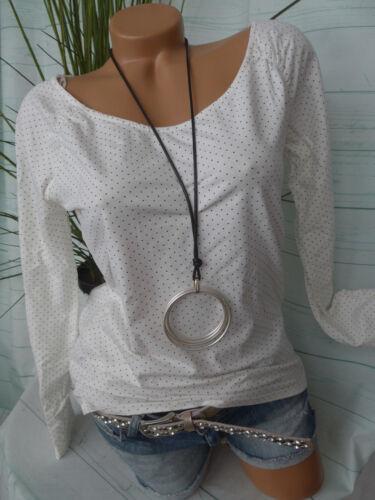 Esprit edc Shirt Gr L bis XL weiß mit Punkten NEU 557