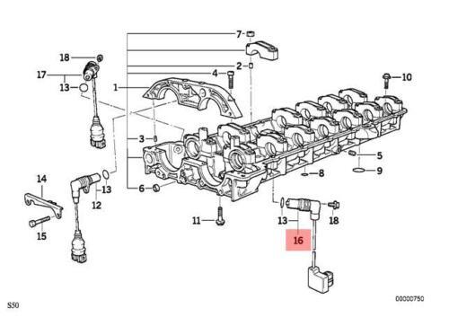 Genuine BMW E36 Cabrio Intake Camshaft Position Sensor CPS OEM 12141401889