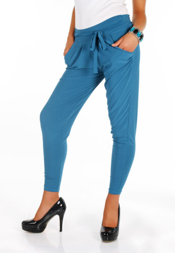 UK Womens Harlem Pants Womens Girls Pants with Pocket Full Length Size 8-12 FA23