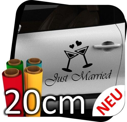 20cm just married matrimonio wedding desiderio Auto Adesivo Adesivi Sticker No. 32