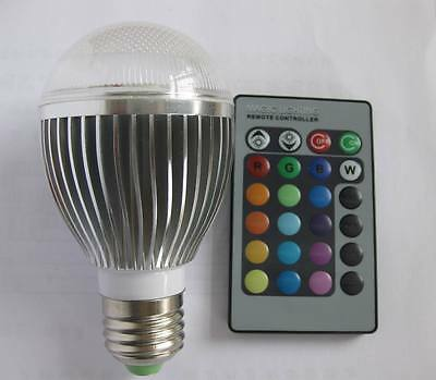 E27 10W Multi Magic 16Color Change RGB LED Light Bulb with IR Remote Control