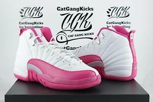 DS-Nike-Air-Jordan-12-XII-Retro-GG-Valentines-Day-Pink-510815-109-Youth-Girls