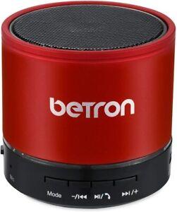 Betron kbs08 Lautsprecher Wireless Portable für Bluetooth Geräte Extra Bass Rot