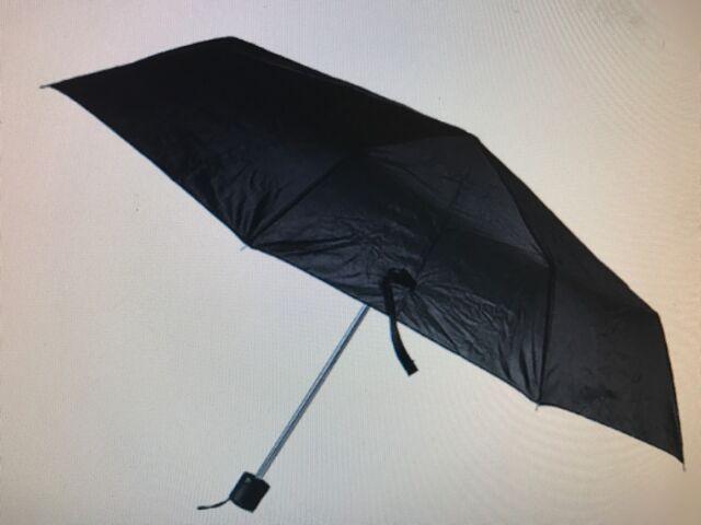 "Compact Umbrella A+ Mini Portable Emergency Black 42""arc Mens/Ladies Sale 9""L"