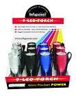 Infapower F006 9 LED Pocket Torch - Pack of 12