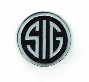Velcro® Brand Or Iron On Silver Black SIG Sauer 2A Patch