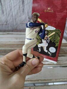Vtg Hallmark Keepsake 1997 Hank Aaron At The Ballpark Braves Christmas Ornament