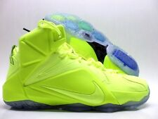 "NIKE LEBRON XII EXT ""TENNIS BALL"" VOLT/VOLT-BLACK SIZE MEN'S 10.5 [748861-700]"
