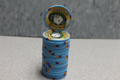 20 Paulson Outpost Casino $1 Poker Chips Mint Condition