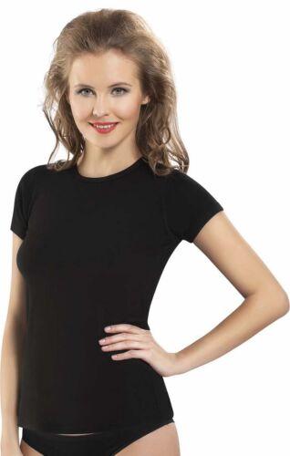 Damen Thermo Winterunterhemd kurzarm mit Rundhals Nmld270