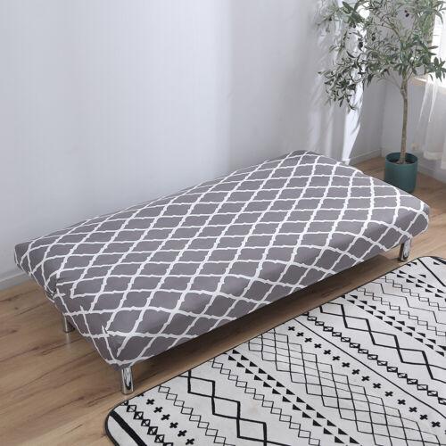 Armless Sofa Futon Cover Folding Stretch Sofa Bed Slipcover Protector 180-210cm