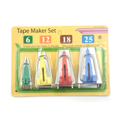 4pcs//set Tape Maker Binding Fabric Clover Bias Craft Sewing Tools Nice UK