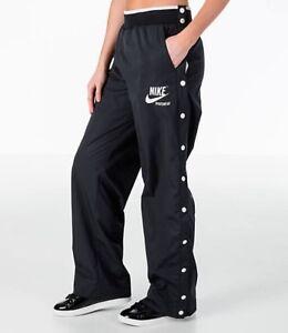 c696529b NEW NIKE WOMEN'S SPORTSWEAR ARCHIVE SNAP TRAINING PANTS BLACK WHITE ...