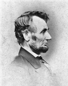 New-8x10-Photo-1864-Profile-of-President-Abraham-Lincoln-by-Mathew-Brady