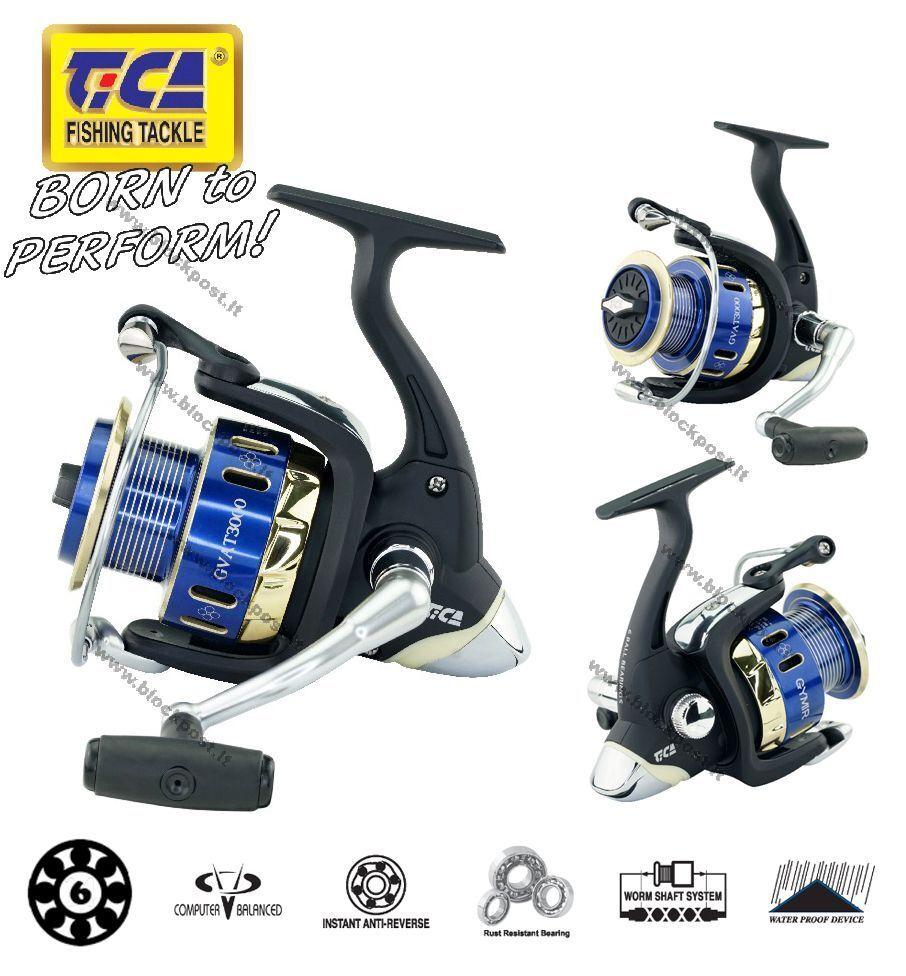 TiCA Gymir GVAT  6BB+1RB,    Front Rear Drag Fishing Reel, 876a34