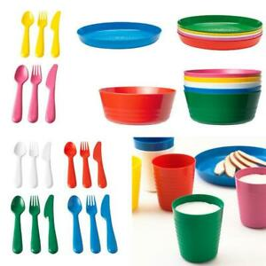 Image Is Loading Ikea Children Kids Plastic Bowls Cups Plates Cutlery