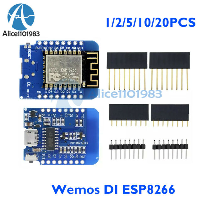 1//2//5//10//20PCS WeMos D1 Mini ESP8266 ESP12 NodeMcu Lua WiFi Development Board