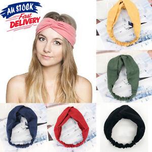 Head-Wrap-Headband-Elastic-Hair-Band-Turban-Twist-Knot-Women-Solid-Suede
