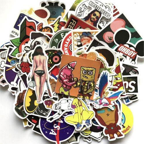 Random Vinyl Decal Lot Mixed Sticker Bomb Skateboard Laptop Luggage Graffiti
