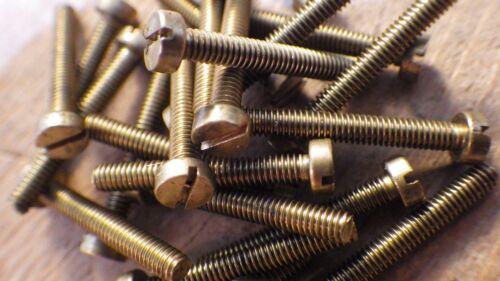 """4BA x 5//16/"""" Laiton Massif Tête Cylindrique Fendue BA Machine Vis modèle à vapeur"""