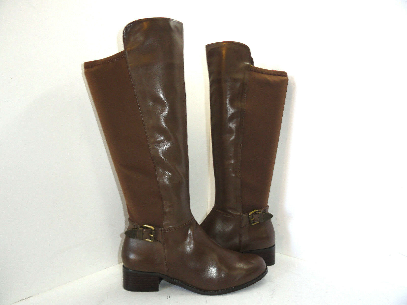 Charles by Charles David Women's Brown Leather Knee High Riding Boots Size 8.5