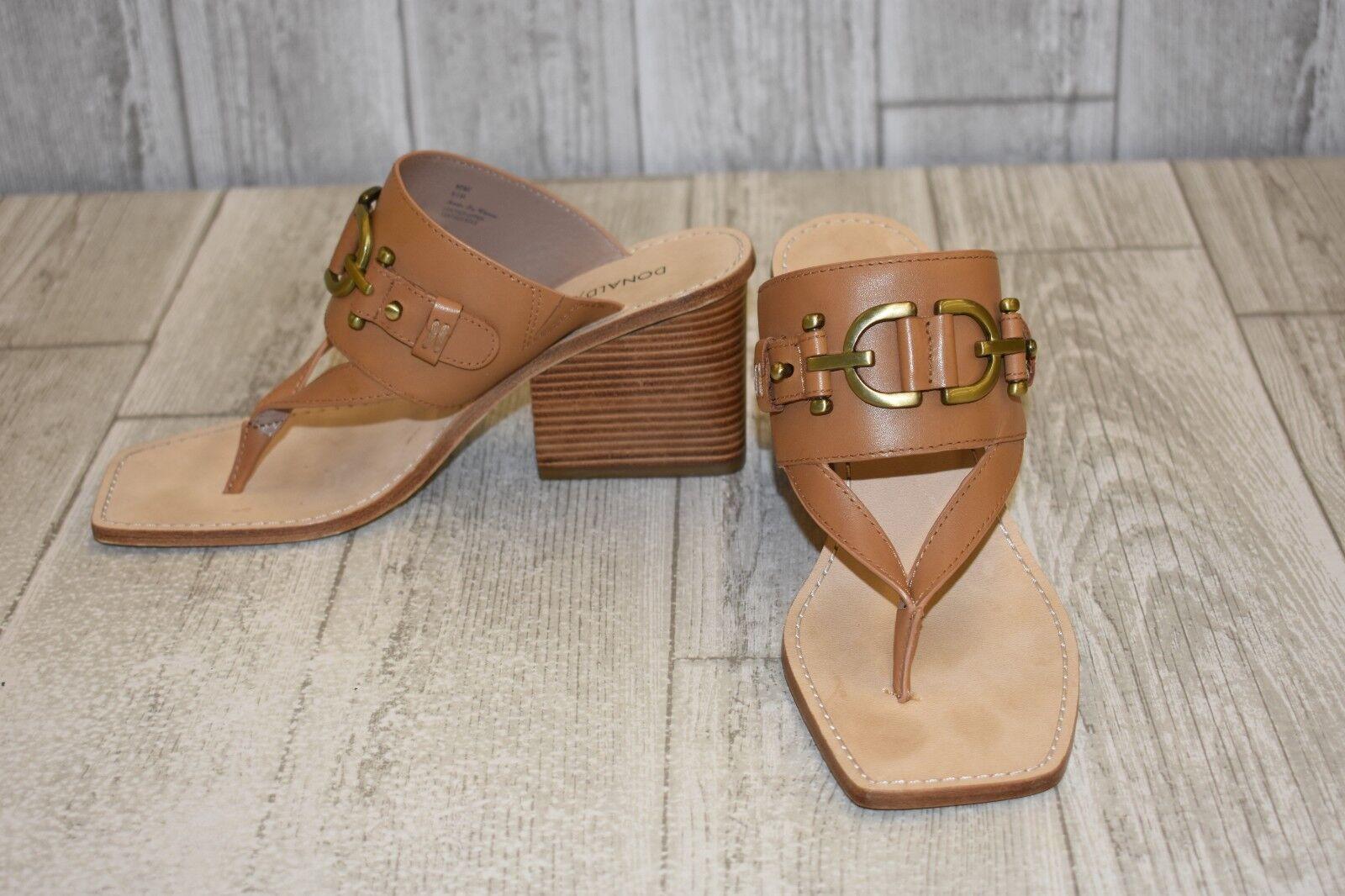 Donald J Pliner Mimi Thong Heeled Sandal - Women's Size 6.5M, Tan