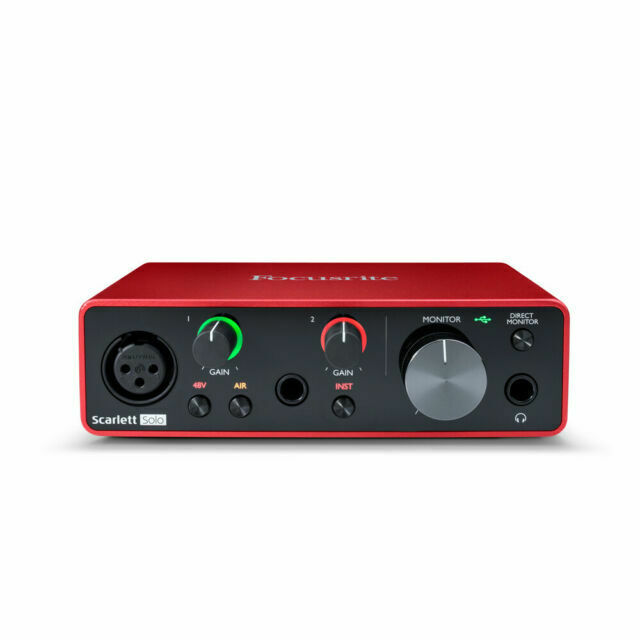 Focusrite Scarlett Solo 3rd Gen 2-in, 2-out USB Audio Interf
