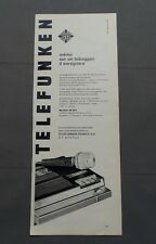 PUB PUBLICITE ANCIENNE ADVERT CLIPPING 230517 / MAGNETOPHONE TELEFUNKEN PORTATIF