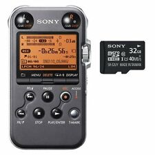 Sony PCM-M10 Portable Audio Recorder (Black) With extra Sony 32GB microSDHC