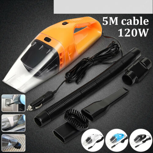 Portable 12V 120W Dust Auto Vehicle Car Handheld Vacuum Dirt Cleaner Wet &