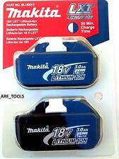 2 NEW IN RETAIL (TWIN)  Genuine Makita 18V Batteries BL1830-2 3.0 AH 18 Volt LXT