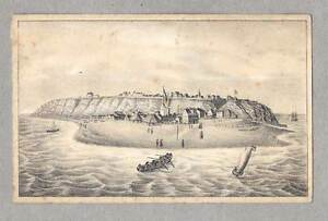 Helgoland-original-Lithographie-1840-SELTEN